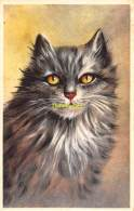 CPA   DESSIN CHAT CHATS  ARTIST DRAWN CARD CAT CATS - Gatti