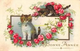 CPA   DESSIN CHAT CHATS  ARTIST DRAWN CARD CAT CATS - Katzen
