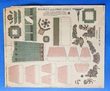 Gioco Vintage Costruzione N° 131 - Foglio N° 1 - Monumento 5 Giornate - 1950 Ca. - Giocattoli Antichi