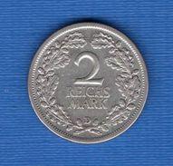 2  Mark  1926 D - [ 3] 1918-1933 : Weimar Republic