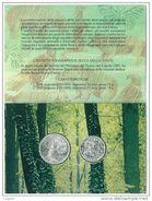 NUMISMATICA - FLORA E FAUNA DA SALVARE DITTICO - EMISSIONE ANNO 1991 - L. 500 + 200 ARGENTO - CONFEZIONE ZECCA - Commémoratives