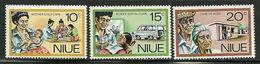 """Niu       """"Social Services""""    Set        SC# 196-98   MNH** - Niue"""
