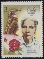 1969.63 CUBA 1969 MNH. Ed.1628. MARIANA GRAJALES, INDEPENDENCE WAR. - Nuevos