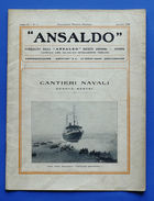 Rivista Ansaldo - Sottostazioni Ambulanti Per Ferrovie - Anno IV N° 5 - 1929 - Books, Magazines, Comics
