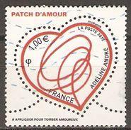 FRANCE    -  2012 .  Y&T N° 4632 Oblitéré .   Coeur  /  Adeline André - Used Stamps