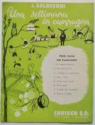 Musica Spartito - Una Settimana In Campagna - Pezzi Facili Per Pianoforte - 1949 - Old Paper