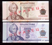 Transnistria 2017 100th Anniversary Of The Great October Revolution Specimen 1&5 Ruble UNC - Moldova