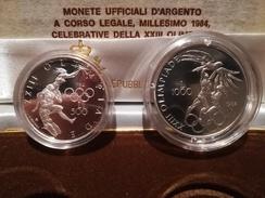 SAN MARINO NUMISMATICA - ANNO 1984 - 500+1.000 £ - Olimpiadi Dittico FS San Marino - Tiratura 14.580 - Saint-Marin