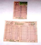 Sport - Totocalcio Lotto Schedine Usate Concorso N° 6 - 1957 - Biglietti Della Lotteria