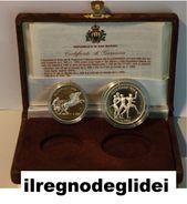 SAN MARINO NUMISMATICA - ANNO 1992 - 500+1.000 £ - Olimpiadi Barcellona Dittico FS  - Tiratura 22.000 - Saint-Marin