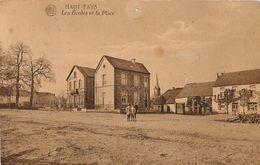 Haut-Fays - Les écoles Et La Place, Enfants - Circulé 1927 Timbre Décollé - Albert - Edit. Stral, Haut-Fays - Daverdisse