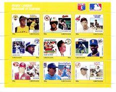 GRENADA 1988 BASEBALL  - 2 BLOCS - REF 950 MINT SHEETS ** Sans Charniere - Baseball