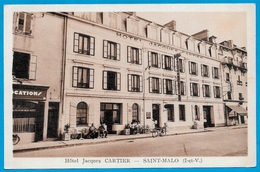 CPA 35 St SAINT-MALO - Hôtel JACQUES CARTIER Sur La Mer - Saint Malo