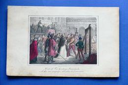 Stampa Storia - Morte Di Fra Girolamo Savonarola - 1850 Ca. - Prints & Engravings