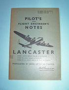 Aeronautica Aviation - Pilot's Notes LANCASTER 1955 Ca - Libros, Revistas, Cómics