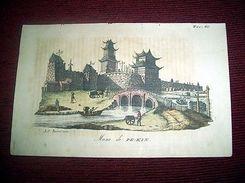 Stampa Incisione Costumi Asia - Mura Di Pe-Kin ( Incisore Bernieri  ) 1800 Ca - Prints & Engravings