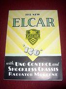 Collezionismo - Brochure Auto ELCAR Mod. 120 - Anni 1930 Ca - Publicités