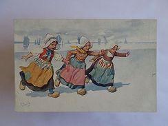 ART POSTCARD SIGNED LOVELY GIRL GIRLS HOLLAND 1910 YEARS Z1 - Cartes Postales