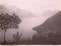 * Foto Albumina Brogi Lago Di Lecco 1875 Ca. Panorama - Non Classés
