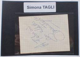 Autografo Originale Simona Tagli - Foglietto - 1985 Ca. 288 - Autographes