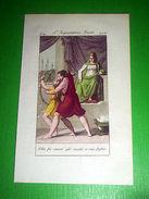 Stampa Incisione Acquerellata - L' Imperatrice Irene - 1800 Ca - Stampe & Incisioni