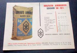 Agraria Pubblicità Concimi - Solfato Ammonico Edison 20-21% - Società Edison - Vecchi Documenti