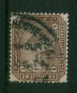 EGYPT / 1888 / SG : 58 / A VERY RARE TPO CANC. / ALEX. & HOSHE ISSA  / VFU. - Egypt
