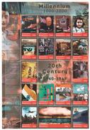 DOMINICA 2000 MNH - Gandhi, Death, Nehru, Flag, Churchill, TV, Israel, Computer, Anne Frank, China Wall, UNO, War, Flag - Mahatma Gandhi