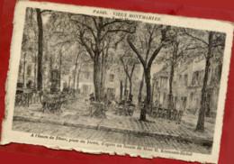 PARIS - VIEUX MONTMARTRE - Fusain De Mme Kosmann-Sichel - Carton épais - Place Du Tertre - Arrondissement: 18