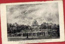 PARIS - VIEUX MONTMARTRE - Fusain De Mme Kosmann-Sichel - Carton épais - Le SACRE-COEUR - Arrondissement: 18