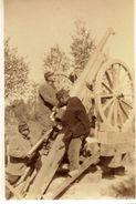 PHOTO FRANÇAISE - CANON DE 75 ANTI AERIEN - 31e RAC DEVANT WEZ PRES DE BEAUMONT SUR VESLE REIMS - MARNE 1914 1918 - 1914-18