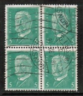 GERMANY   Scott # 368 VF USED BLOCK Of 4 - Used Stamps