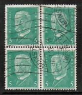 GERMANY   Scott # 368 VF USED BLOCK Of 4 - Germany