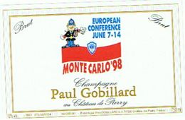 CHAMPAGNE  PAUL GOBILLARD  MONTECARLO 98    ****    A   SAISIR **** - Champagne