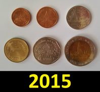 Thailand Coin Circulation Set Year 2015 UNC - Thailand
