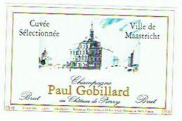 CHAMPAGNE  PAUL GOBILLARD  VILLE DE MAASTRICHT   375 ML     **** RARE    A   SAISIR **** - Champagne