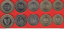 Bahrain Set Of 5 Coins: 5 - 100 Fils 2005-2007 UNC - Bahrain