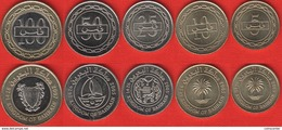 Bahrain Set Of 5 Coins: 5 - 100 Fils 2005-2007 UNC - Bahrein