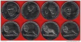 Congo Dem. Rep. Set Of 4 Coins: 1 Franc 2004 UNC - Congo (République Démocratique 1998)