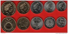 Solomon Islands Set Of 5 Coins: 10 Cents - 2 Dollars 2012 UNC - Solomon Islands