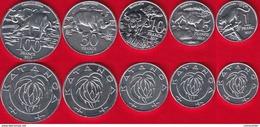 "Katanga Set Of 5 Coins: 1 - 100 Francs 2017 ""Animals"" UNC - Katanga"