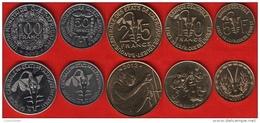Western Africa Set Of 5 Coins: 5 - 100 Francs 2011-2012 UNC - Monnaies