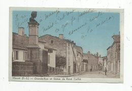 Cp , 79 , MAUZE , Grande Rue Et Statue De René Caillié , écrite 1949 - Mauze Sur Le Mignon