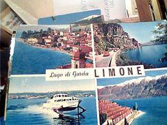 LIMONE SUL GARDA  VEDUTE E NAVE SHIP  ALISCAFO FRECCIA DEL GARDA  N1970 GJ18644 - Brescia