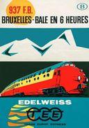TEE Trans Europ Express Edelweiss Bruxelles-Bale 1962 - Postcard - Poster Reproduction - Publicité