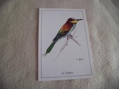 BELLE ILLUSTRATION...CARTE PUBLICITE ...LE GUEPIER... - Uccelli