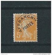 -Préoblitéré 50 Semeuse 5c Orange - France - Neuf** - 1893-1947