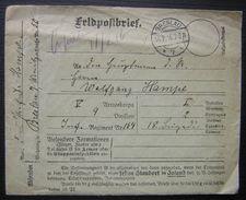 1916 Feldpostbrief Breslau V Armeekorps 9 Division Inf Regiment  154 Wolfgang Hampe - Marcofilie (Brieven)