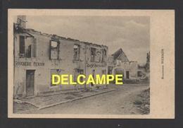 DD / GUERRE 1914 - 18 / BELGIQUE / PALISEUL (PROVINCE DE LUXEMBOURG) / BOUCHERIE PIERSON ET VILLAGE EN RUINE - War 1914-18