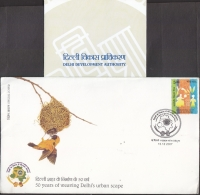 India  2007  Birds Nest  NEW DELHI  Special Cover   #   04044    D  Inde Indien - Songbirds & Tree Dwellers